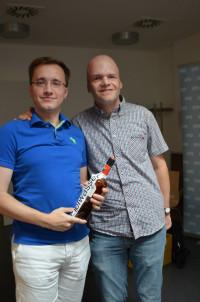 Ulf Schröder wird als Schwuso-Landesvorsitzender verabschiedet, hier mit Michael Blödel